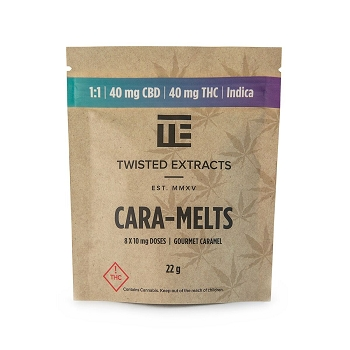 Twisted Extracts Cara-Melts – Indica (40mg THC / 40mg CBD)