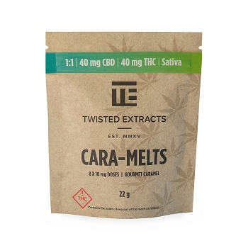 Twisted Extracts Cara-Melts – Sativa (40mg THC / 40mg CBD)