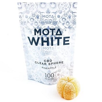 MOTA White CBD Clear Sphere – 100mg CBD